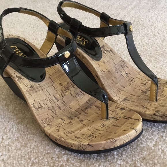 18b3cd64b48 Chaps Shoes - Thong toe Wedge Sandals